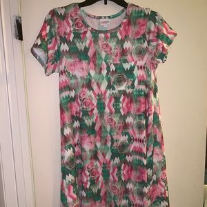 Lularoe Carly XS multicolor with roses